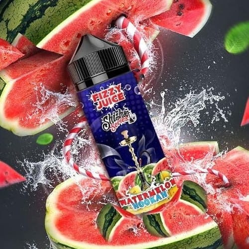 Watermelon Hookah Fizzy Shisha Series Shortfill 100ml