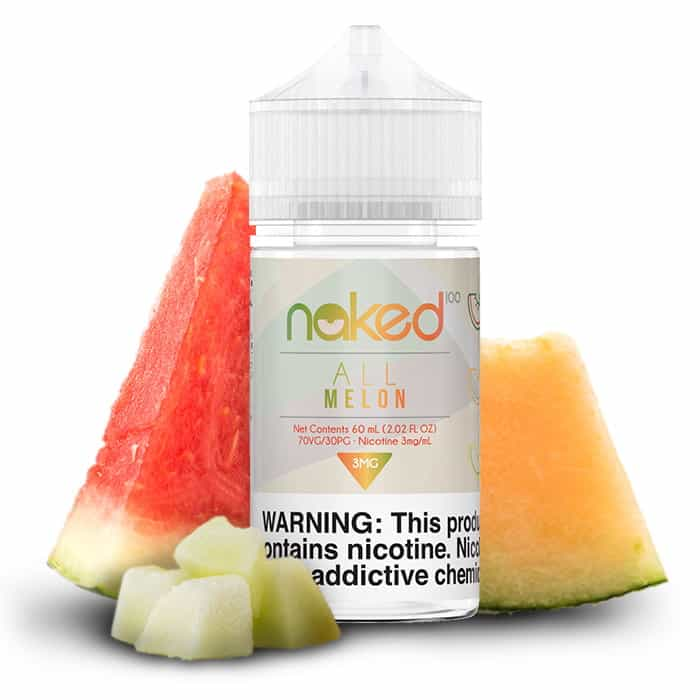 All Melon Naked 100 Shortfill 50ml